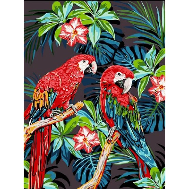 Картина по номерам Попугаи Ара, 30x40 см., Babylon