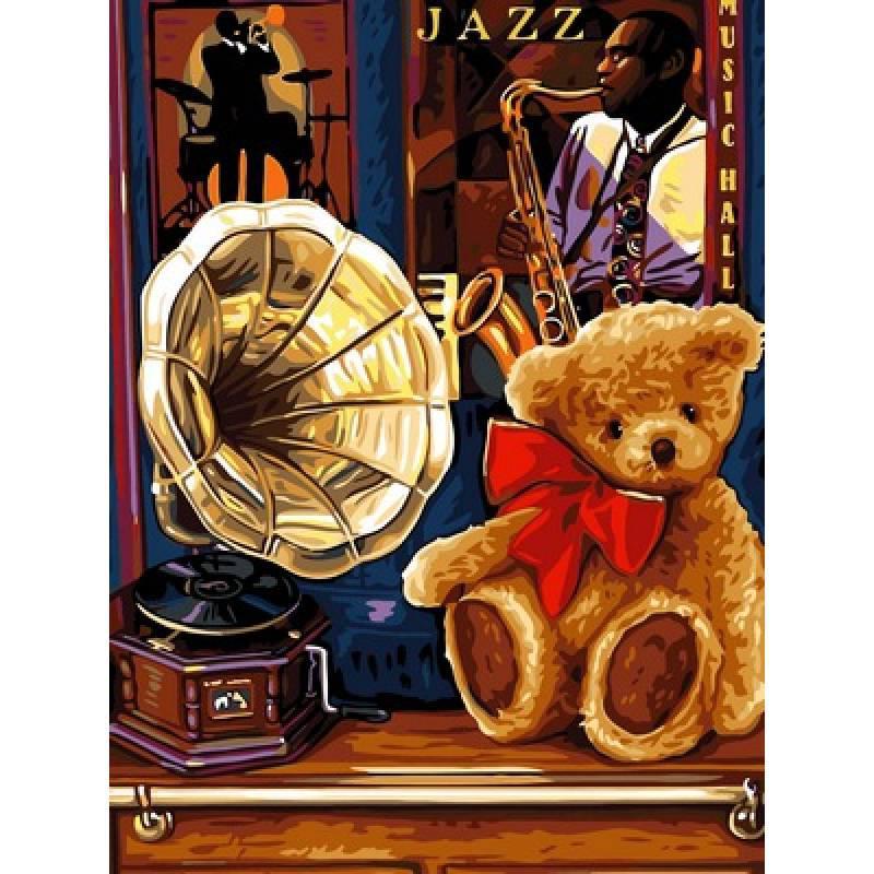 Картина по номерам Джазовый век, 30x40 см., Babylon
