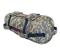 Сэндбэг -размер S- до 20 кг-спортивный мешок с песком для кроссфита и фитнеса цвет цифровой камуфляж, фото 1