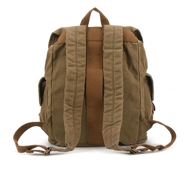 Вместительный брезентовый рюкзак S.c.cotton | army green