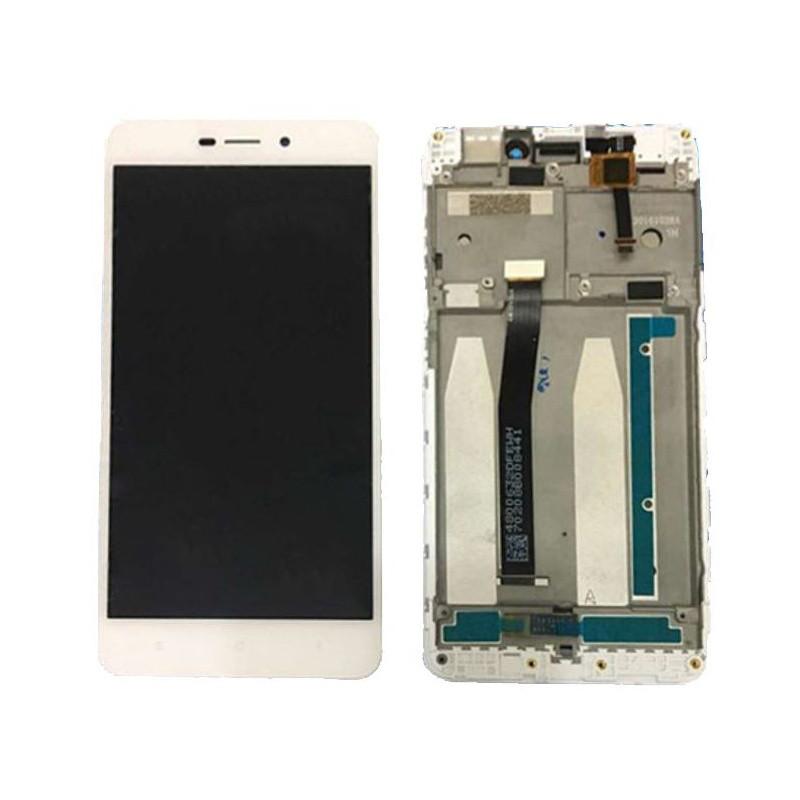 Дисплей для Xiaomi Redmi 3/3 Pro/Redmi 3s/3s Prime/Redmi 3x с тачскрином и рамкой белый Оригинал