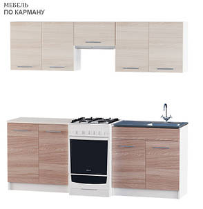 Вариант №1 Кухня ЭКС 2,1 м под накладную мойку, фото 2