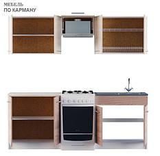 Варіант №1 Кухня ЕКС 2,1 м під накладну мийку, фото 3