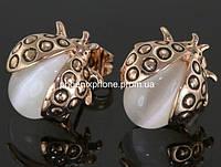Прелестные серьги с кристаллами Swarovski, покрытые золотом (201230)