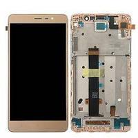 Дисплей для Xiaomi Redmi 3/3 Pro/Redmi 3s/3s Prime/Redmi 3x с тачскрином и рамкой золотистый Оригинал