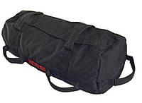 Сэндбэг размер S-до 20кг сумка-утяжелитель для тренировок  (Sandbag, песочный мешок) черного цвета, фото 1