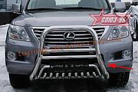 Решетка передняя мини d 76(51) высокая Союз 96 на Lexus LX 570 2007-2011