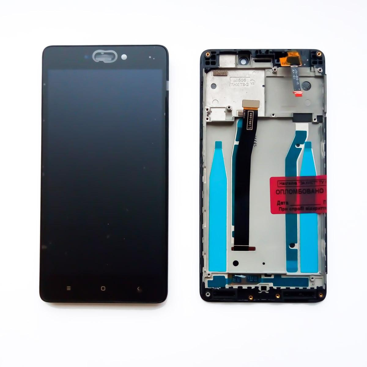 Дисплей для Xiaomi Redmi 3/3 Pro/Redmi 3s/3s Prime/Redmi 3x с тачскрином и рамкой черный Оригинал