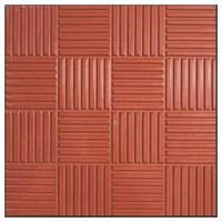 """Тротуарная плитка """" Шоколадка"""" красная  35 мм."""