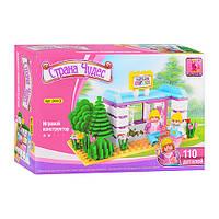 Конструктор AUSINI 24413 котедж, фігурки, рослини, 110 елементів, в коробці, 22-15-4,5 см