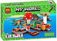 Конструктор Bela 10619 Minecraft Майнкрафт Грибной Остров 253 дет, фото 1