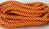 Скакалка для художественной гимнастики CUERDA RITMICA желто-красная (Испания)