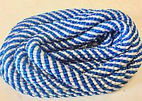 Скакалка для художественной гимнастики CUERDA RITMICA бело-голубая (Испания)