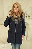 Куртка зимняя женская с мехом теплая c 42 по 58 размер (modnyst)