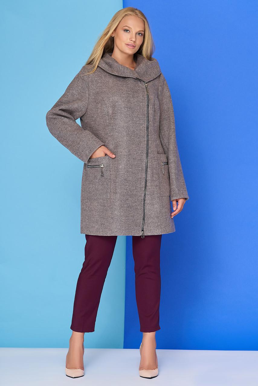 87036ed116c Модное пальто женское в 4х цветах М-804 размеры 52-58  продажа