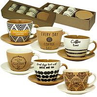 Сервиз чайно-кофейный Coffe time 1517-10, чашка 350мл