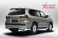 Защита задняя уголки d76 Союз 96 на Lexus LX 450d/570 2015 (эксклюзив TMR )