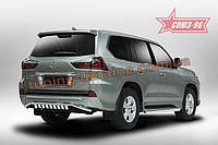 Защита задняя с декоративными элементами d60 Союз 96 на Lexus LX 450d/570 2015 (эксклюзив TMR )