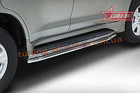 Защита штатного порога d42 под машину Союз 96 на Lexus LX 450d/570 2015 (эксклюзив TMR )