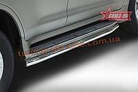Защита штатного порога d60 под машину Союз 96 на Lexus LX 450d/570 2015 (эксклюзив TMR )