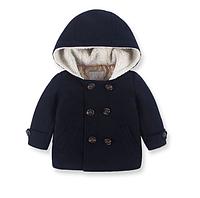 Пальто утепленное демисезонное с капюшоном 98