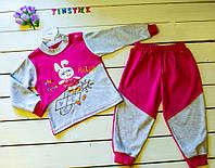 Трикотажний костюмчик для дівчинки на1-2 роки, фото 1