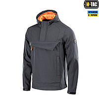 M-TAC АНОРАК SOFT SHELL FIGHTER DARK GREY/ORANGE, фото 1