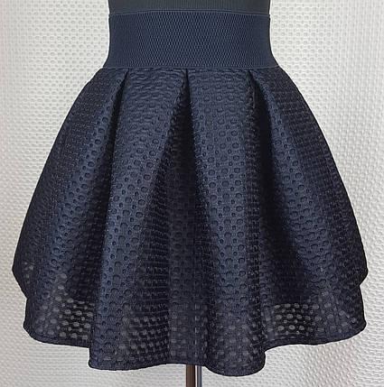 Школьная юбка  темно-синяя неопрен р.146, фото 2