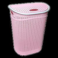 Корзина для белья GORDES 52 л розовая