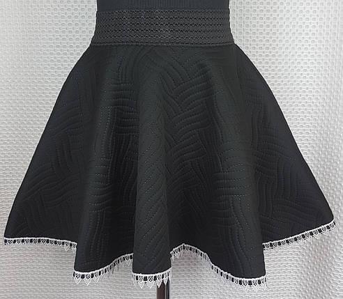 Школьная юбка   неопрен р. 122-140 черная, фото 2