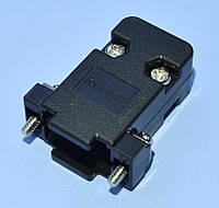 Корпус для разъема DB-9 пластик, черный  Confly