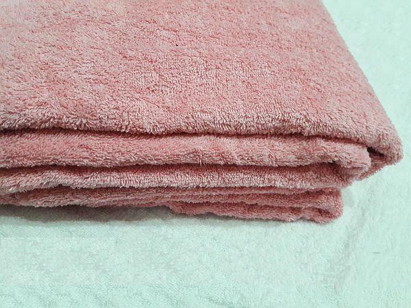 Простынь махровая 180х200 Хлопок 100% Розовая 400 гр/м2 Азербайджан