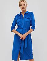 Женское замшевое платье-рубашка с поясом (Ikos crd)