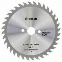 Циркулярный диск Bosch 150x20/16x36 Optiline ECO