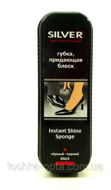 Сильвер Silver губка пропитка для обуви блеск черный