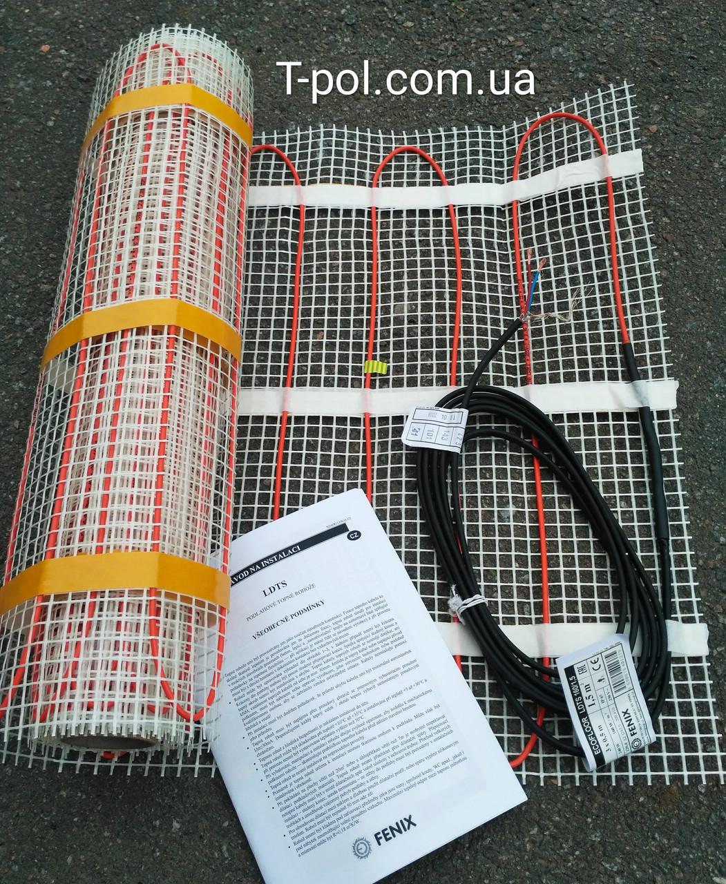 Теплый пол без стяжки нагревательный мат ldts 1 м2 Ecoflor Fenix Чехия
