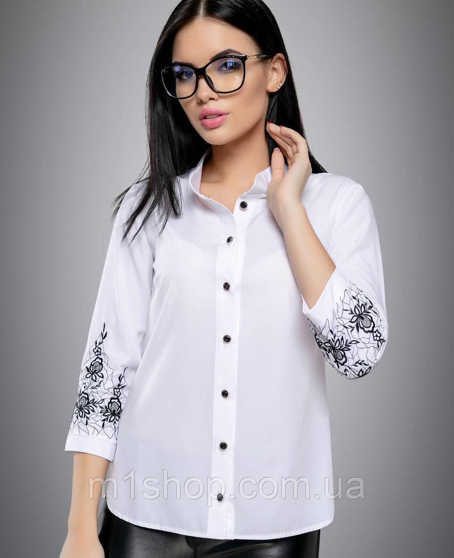 Женская блузка с вышивкой на рукавах больших размеров (2706:2694 svt)