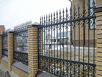 Кованый забор с квадрата, фото 1
