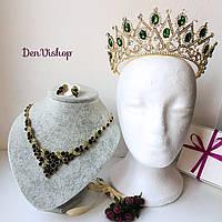"""Шикарный набор """"Изабель"""" для невесты (корона, ожерелье, серьги)., фото 1"""