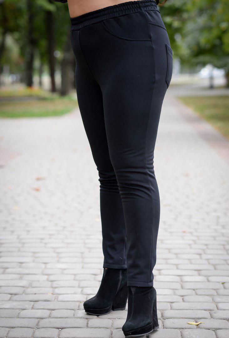 Теплые женские брюки больших размеров Комфорт