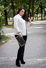 Теплые женские брюки больших размеров Комфорт, фото 3