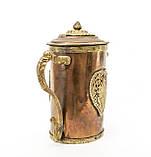 Антикварный азиатский? медный чайник, заварник, кофейник, фото 4