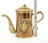 Антикварный азиатский? медный чайник, заварник, кофейник, фото 10