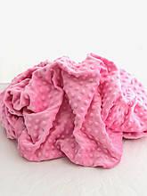 Ткань плюшевая Minky Dots розовый (пупырышки)