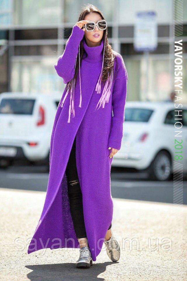 Женское модное пальто-кардиган в расцветках. ВС-4-0717