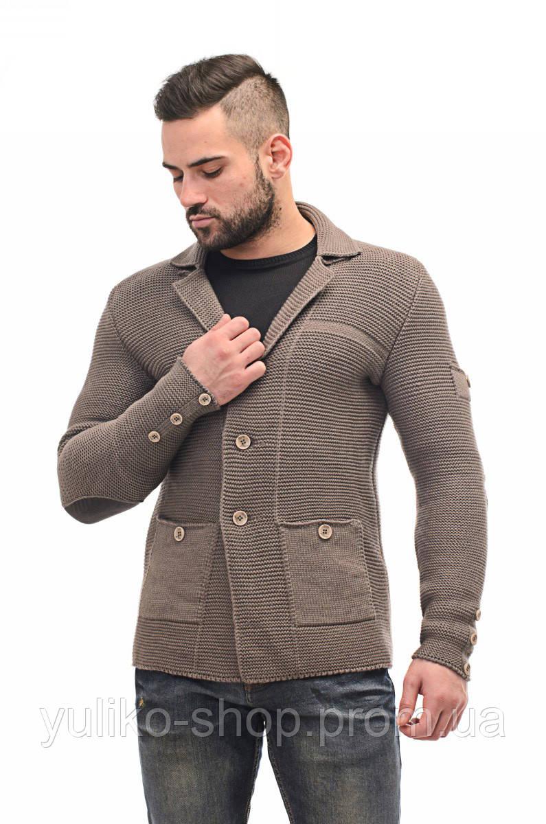 пиджак мужской вязаный стильный кардиган цена 877 грн купить в