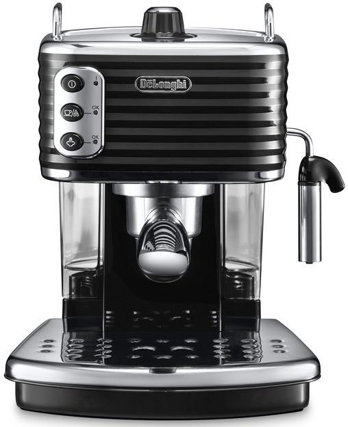 Рожковая кофеварка эспрессо Delonghi Scultura ECZ 351 BK