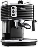 Рожковая кофеварка эспрессо Delonghi Scultura ECZ 351 BK, фото 2