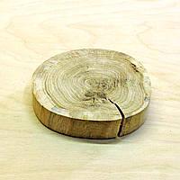 Срез (спил) шлифованный с трещинами 12-14см