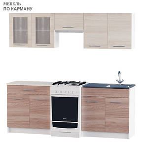 Варіант №2 Кухня ЕКС 2,1 м під накладну мийку, фото 2
